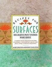 B000JZLU0U Recipes For Surfaces - Decorative Paint Finishes Made Simple