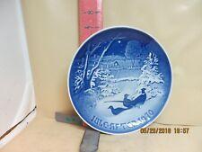 Bing & Grondahl Copenhagen Porcelain Christmas Plate - 1970 Pheasants In Snow