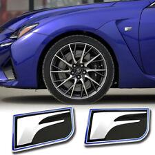 2x F Badge Trunk Emblem Side Fender Trim for Lexus GSF LC RCF IS ES NX RX GX LS