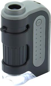 Extrem leistungsstarkes Taschenmikroskop Carson 60-120x MicroBrite Plus mit LED