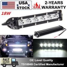 7inch 18W Single Row Slim LED Spot Work Light Bar OFFROAD DRIVING LAMP SUV ATV