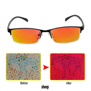 New Color Blind Glasses Red Green Color Blind Half Frame Glasses Auxiliary Tools