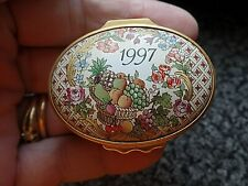 Halcyon Days Enamels A Year to Remember 1997 Boxed COA