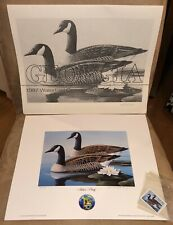 1987 Waterfowl Conservation Stamp & Print Signed (Artist Proof) James Partee Jr.