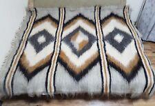 Large Hutsul Real PURE Sheep WOOL Eco woven Blanket /Plaid  Rug180*210 cm