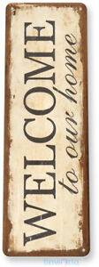TIN SIGN Welcome Home Metal Décor Wall Art Store Shop Cottage A673