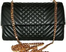 VINCE CAMUTO Black Leather Clutch Purse  Cross body NWT