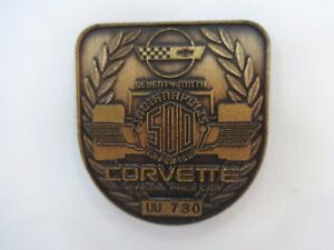1995 Indianapolis 500 UU730 Bronze Pit Badge Corvette J. Villenueve Team Green