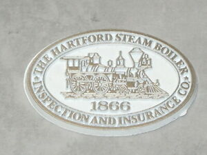 HARTFORD STEAM BOILER 1866 RAILROAD Vintage RUBBER FRIDGE MAGNET Standings Board