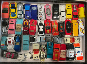 Lot Of 40 Vintage Hot Wheels, Matchbox, etc Cars & Trucks