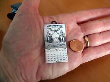 Miniature Calendar artisan. Vintage Continental Life 1926. Scale 1:12 CAN