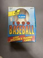 1990 Fleer Baseball Wax Box 36 Unopened Packs