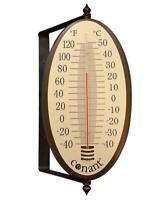 Decor Vintage Oval Thermometer (Bronze Patina)