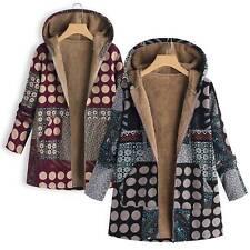 Ladies Plus Size Zipper Swing Flared Coats Jackets Outerwear Winter Warm Hoodies