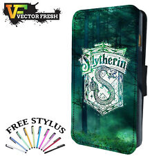 SLYTHERIN HARRY POTTER CREST - FLIP PHONE CASE COVER LEATHER WALLET