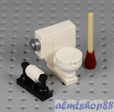 MADE OF LEGO BRICKS Bathroom Toilet Paper Dispenser Sink Tap Tub Shower WC TP