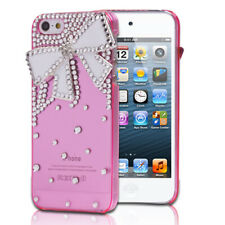 3D Pink Bling Crystal Rhinestone Tie Hard Cover Case For Apple iPhone 5 5G 5th