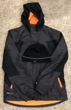 Boys Champion C9 Lightweight Full Zip Black/Gray Jacket Large 12-14 + Beanie