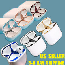 Metal Dust Guard Sticker Decal Skin Protector For Apple AirPods 1/2 Pro Case