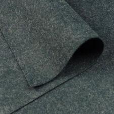 Woolfelt Smoke Grey ~ 22cm x 90cm / quilting dark heathered mottled felt fabric