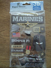 PAPER HOUSE MARINES 3D STICKERS BNIP *NEW*