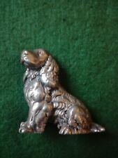 More details for old heavy cast metal cocker spaniel dog ornament.