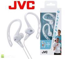 Écouteurs blancs sports avec fil