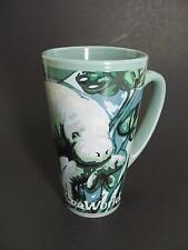 SeaWorld Manatees Sea Cow and Baby Tall Ceramic Coffee Mug Cup Blue Green New