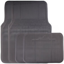 4 Piece Universal Fit Black Rubber Reliant Front & Rear Car Mats Non Slip Floor