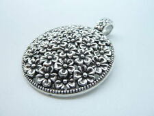 10pcs 30x25mm Antique Silver Lovely Filigree Compass Charm Pendant B263