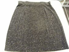 BLACK SKIRT WITH GOLD SPARKLES SIZE MEDIUM CAROL ANDERSON COLLECTION