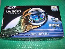 NEW NVidia Quadro4 NVS 285 Dual Monitor PCIe x1 Graphics Card + Cables