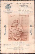 Programme. Fêtes d'Enghien les Bains. Association des Artistes Dramatiques. 1908