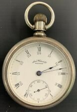 Silver Pocket Watch Antique Waltham Coin