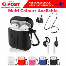Apple Airpods 1 2 Silicone Rubber Shockproof Case Cover Ear Hooks Holder Airpod