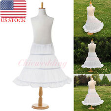 3 Hoop Children Petticoat Bridal Crinoline Underskirt Slips for Flower Girl New