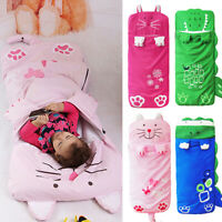 Sleeping Bag Cotton Cover Kids Childrens Baby Cartoon Camping Hiking Travel