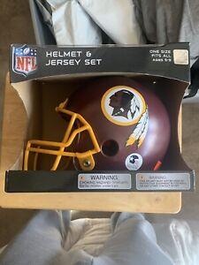 Washington Redskins Youth NFL Helmet and Jersey Set ages 5-9