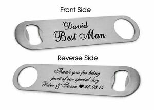 Personalised Bottle Opener Best Man, Usher, Groomsman, Father of the Bride Gift