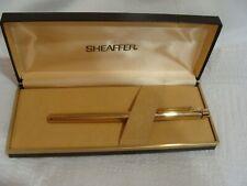 Vintage Sheaffer Targa Gold Electroplated Fountain Pen 14K Gold Nib