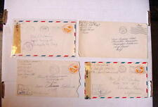1943-45 WW2 APO COVERS 7BPO & 14BPO CENSORED Airmail LOT Of (4)
