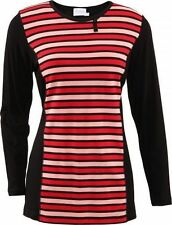 Gestreifte ärmellose Damenblusen, - Tops & -Shirts in Größe M
