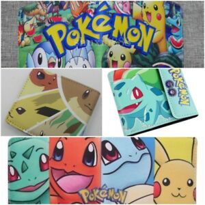 40 Styles Pokemon Pikachu Poke Wallet New Free Tracking Anime Kids Boys Mens