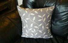 "4 18"" x 18""  grey and white /ivory cushion covers. Mirage Leaf design."