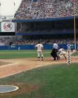 1965 MLB New York Yankees Mickey Mantle at Plate Game Action Color 8 X 10 Photo