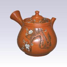 Tokoname Kyusu teapot - KODO - White Plum - 260cc/ml - Pottery steel net