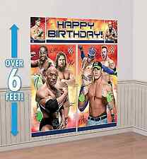WWE Scene Setter Happy Birthday Wall Decoration Banner Party Favor Supplies 5pc