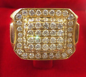 2.04ct Natural Round Diamond 14K Solid Yellow Gold Band Ring
