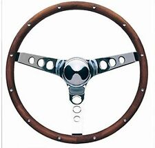 """VW Volkswagon Fox Jetta Rabbit Golf Grant Wood Steering Wheel Chrome 15"""" Walnut"""