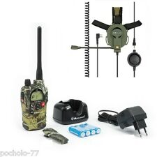 WALKIE MIDLAND G9 CAMUFLAGE + CASCO BOW TACTICAL MIDLAND 30 KM AIRSOFT PINTBALL